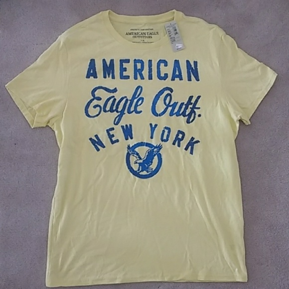 American Eagle Outfitters Other - NWT American Eagle Yellow Logo Graphic Tee